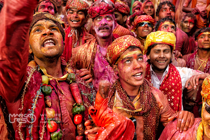 La folla variopinta di Holi: festival dei colori - India-Photo by Marco Urso photographer