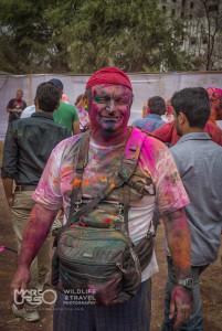 Marco Urso al festival di Holi - India